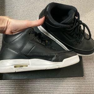 Nike Jordan black leather, kids 6